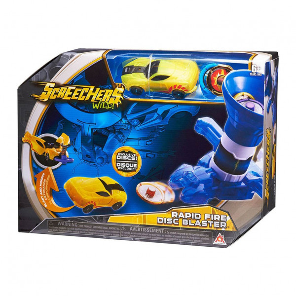 Screechers Rapid Fire Disc Blaster