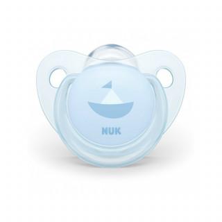 Nuk laža silikon Baby blue, 6-18m new