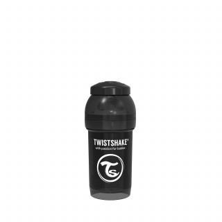 TS flašica anti-colic 180ml crna