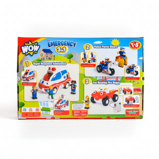 Wow igračka set 3 u 1 Emergency Rescue