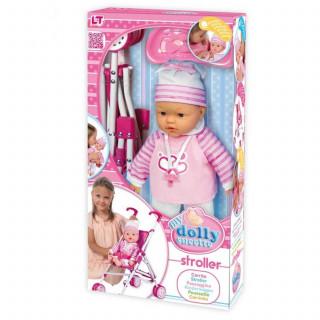 Loko toys,lutka beba sa kolicima, 37 cm