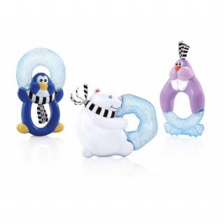 Nuby glodalica sa gelom 3m+: medved, morž, pingvin