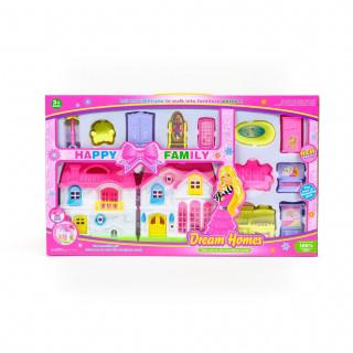 HK Mini igračka, kućica za lutke sa nameštajem