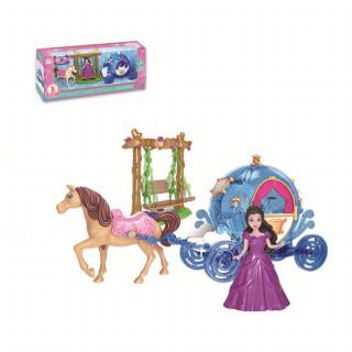 Qunsheng Toys, igračka lutka sa kočijom plav