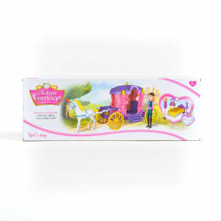 Qunsheng Toys, igračka lutka sa kočijom roz