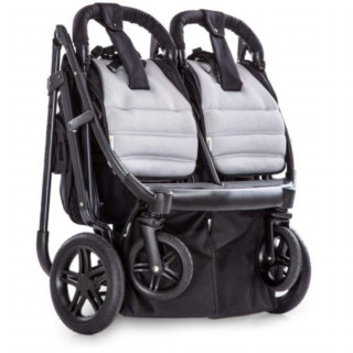 Hauck kolica za blizance Rapid 3R Duo, Silver