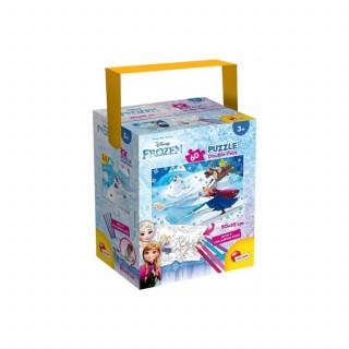 Lisciani 60Pcs + 4 Flom Frozen 2u1 Slozi i Oboji