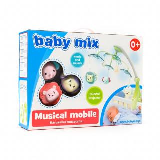 Baby Mix muzicka vrteška vesele životinjice roze