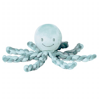 Nattou plišana igračka hobotnica, zelena