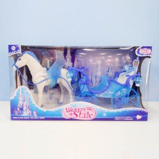 HK Mini igračka kočija za princeze, plava