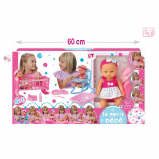 Loko toys, set - lutka beba sa dodacima
