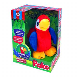 Interaktivni pliš - Brbljivi papagaj Pako