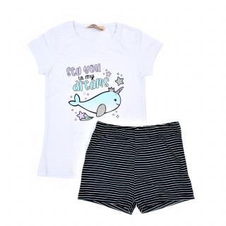 Lillo&Pippo pidžama kr, devojčice