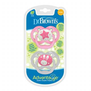 Dr. Browns Advantage svetleća laža 6-18m, roze 2/1