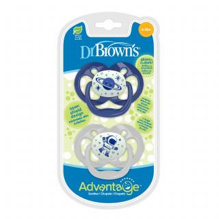Dr. Browns Advantage svetleća laža 6-18m plava 2/1