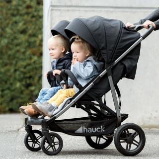 Hauck kolica za blizance Uptown duo, MelangeBlack