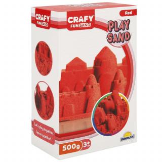 Sunman kinetički pesak 500 gr. crvena boja