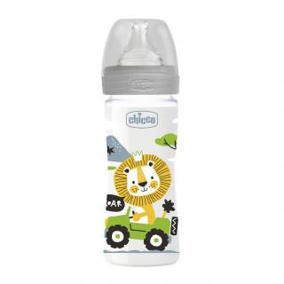 Chicco WB plastična flašica 250ml, silikon, siva