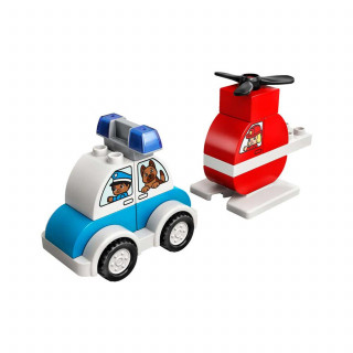 Lego Duplo My first fire helicopter&police car