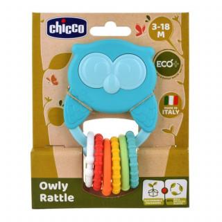 Chicco Eco zvečka u obliku sove
