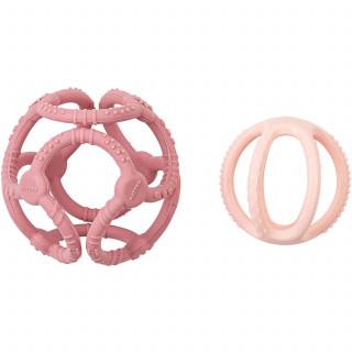 Nattou zvečka u obliku kruga, roze