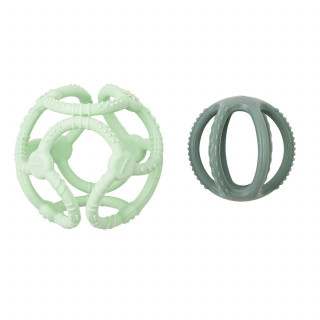 Nattou zvečka u obliku kruga, zelena