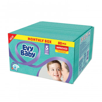 Evy baby pelene box 5 junior 12-25kg 80kom