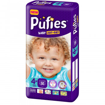 Pufies pelene baby art MP 4+ maxi+ 9-16kg 50kom