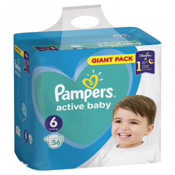 Pampers pelene GP 6 extra large 13-18kg 56kom