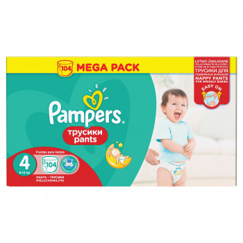Pampers pants pelene MB 4 maxi 9-14kg 104kom