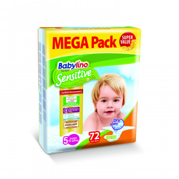 Babylino pelene sensitive MP 5 jun. 11-25kg 72kom