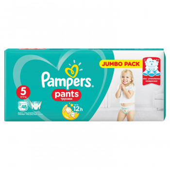Pampers pants pelene JP 5 junior 12-18kg 48kom