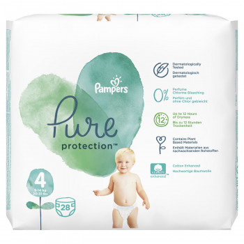Pampers pure VP 4 maxi 10-17kg 28 kom