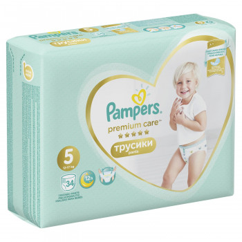 Pampers pants premium VP 5 junior 11-18kg 34kom