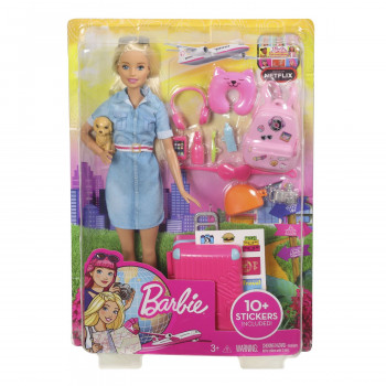 Barbie travel lutka u setu