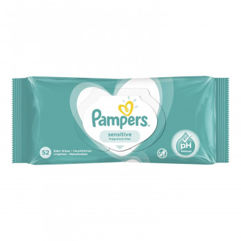 Pampers baby vlažne maramice sensitive 52kom