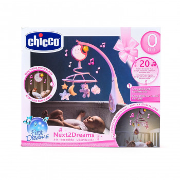 Chicco Next2Dreams vrteska roze