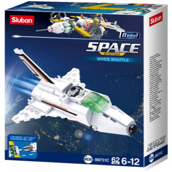 Sluban kocke, space-shuttle, 62 kom