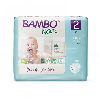 Bambo pelene Nature 2 mini 3-6kg 30kom