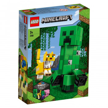 Lego Minecraftbigfig creeper and ocelot