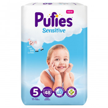 Pufies pelene sensitive MP 5 junior 11+kg 48 kom
