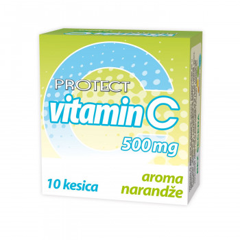 Protect, vitamic C 500 mg, prašak, 10/1