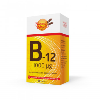 Natural Wealth Vitamin B12 50x1000mcg