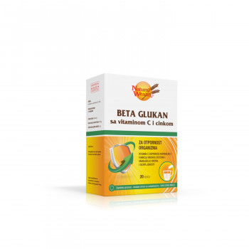 Natural Wealth Beta glukan+C+ZN kesica a20