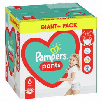 Pampers pants pelene GPP 6 large 15+kg 60kom