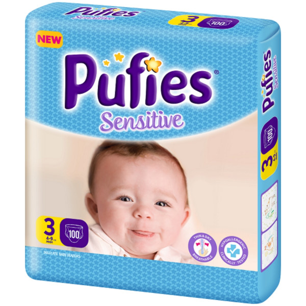 Pufies pelene sensitiv BP 3 midi 4-9kg 104kom