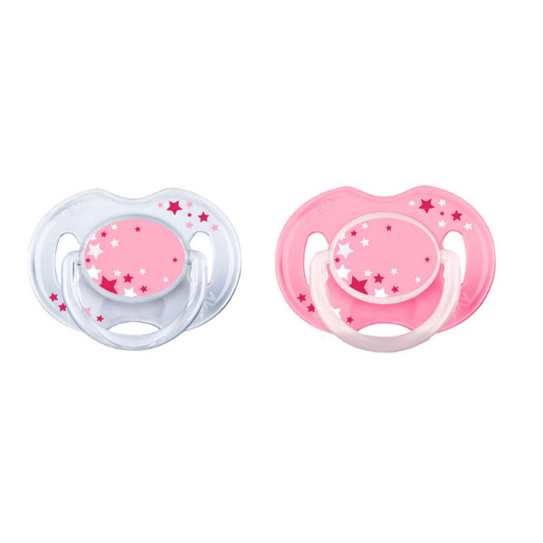 Avent laža noćna Night time soother 0-6 2/1 roze
