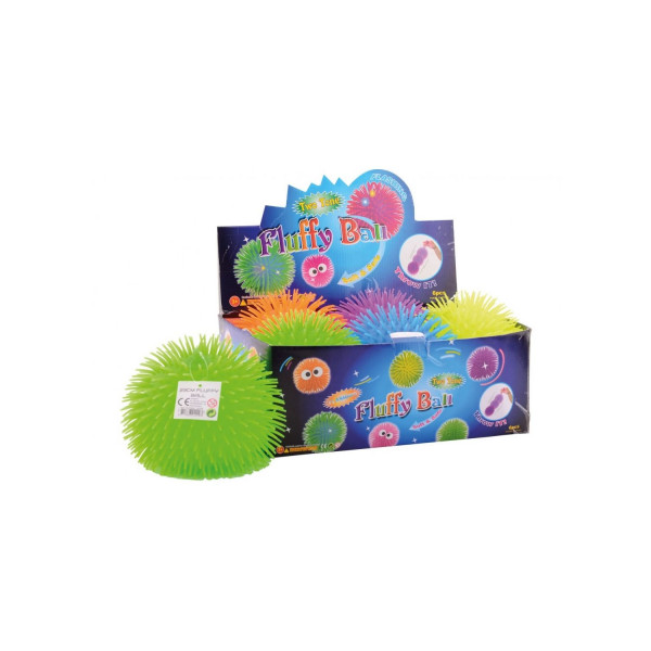 Lopta cupava Fluffy ball 23cm 6ASS display 6pcs