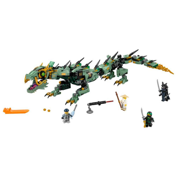 Lego Ninjago movie green ninja mech dragon