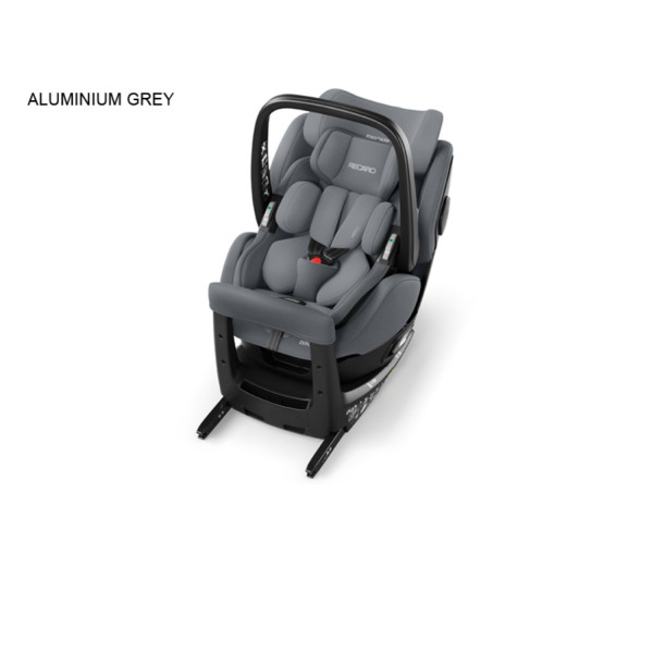 Recaro a-s Zero i-size0+/I do105cm elite alum grey